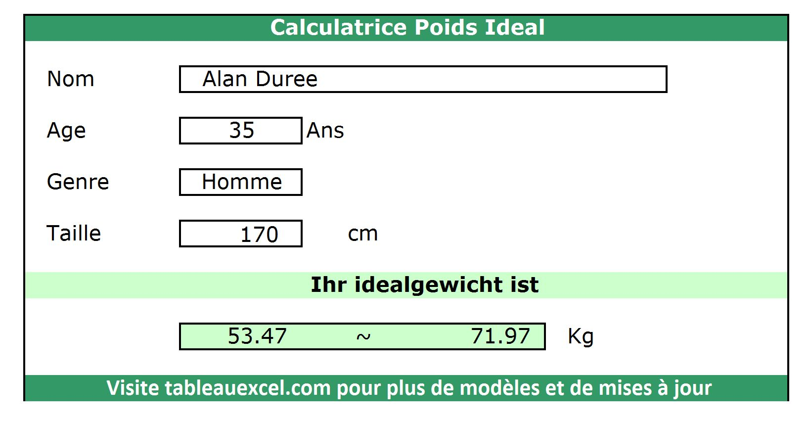 Calculatrice-Poids-Ideal