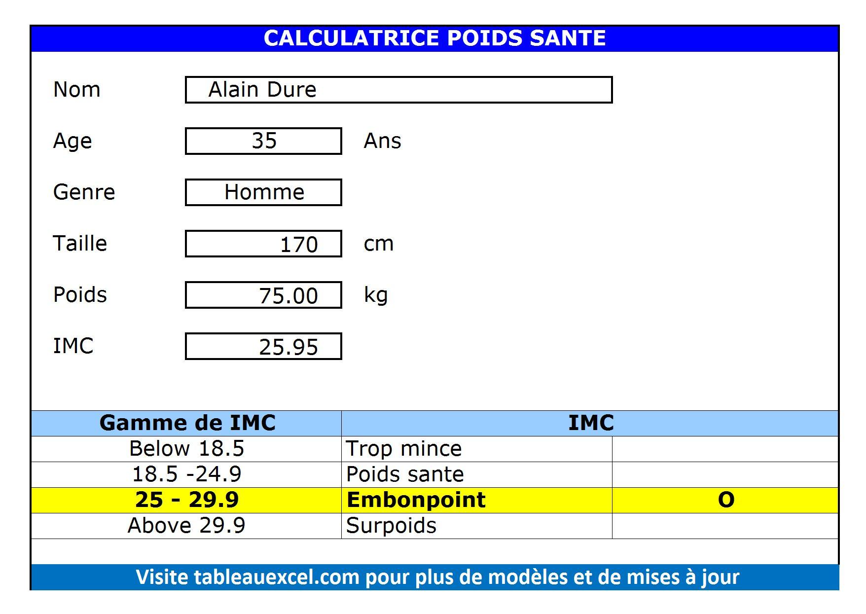 Calculatrice-Poids-Sante