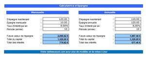 Calculatrice d'épargne