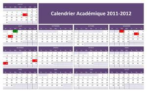 Calendrier Académique 2011-2012