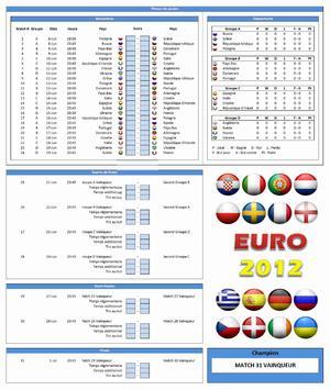 Calendrier Euro 2012