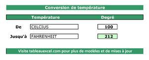 Conversion des températures
